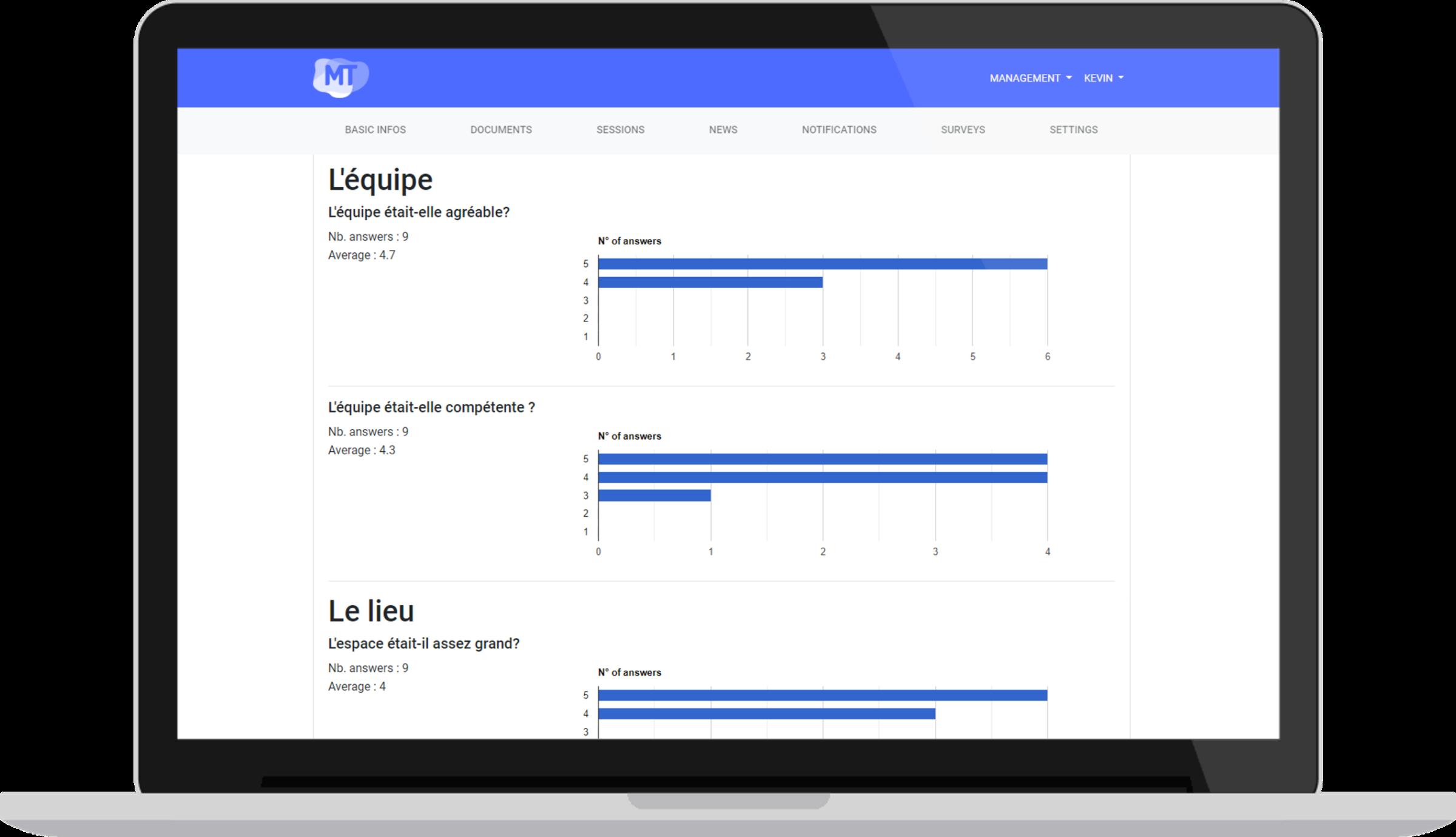 Statistiques - Un écosystème complet pour la gestion et diffusion de vos événements professionnels