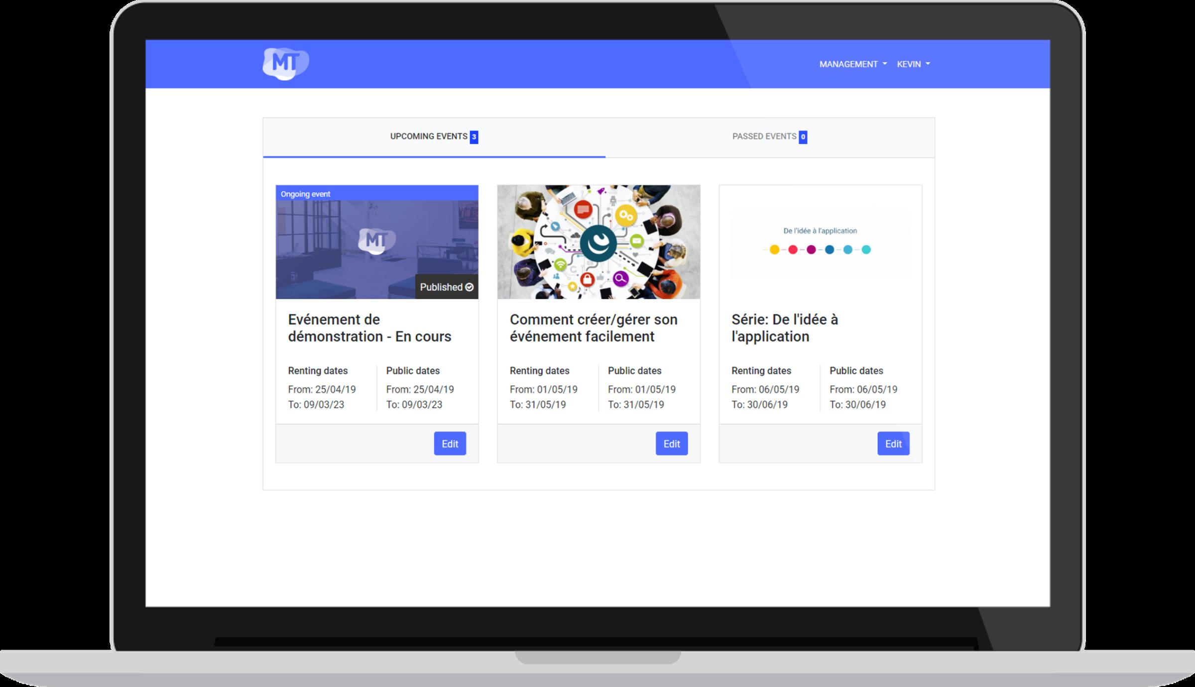 Dashboard - Un écosystème complet pour la gestion et diffusion de vos événements professionnels