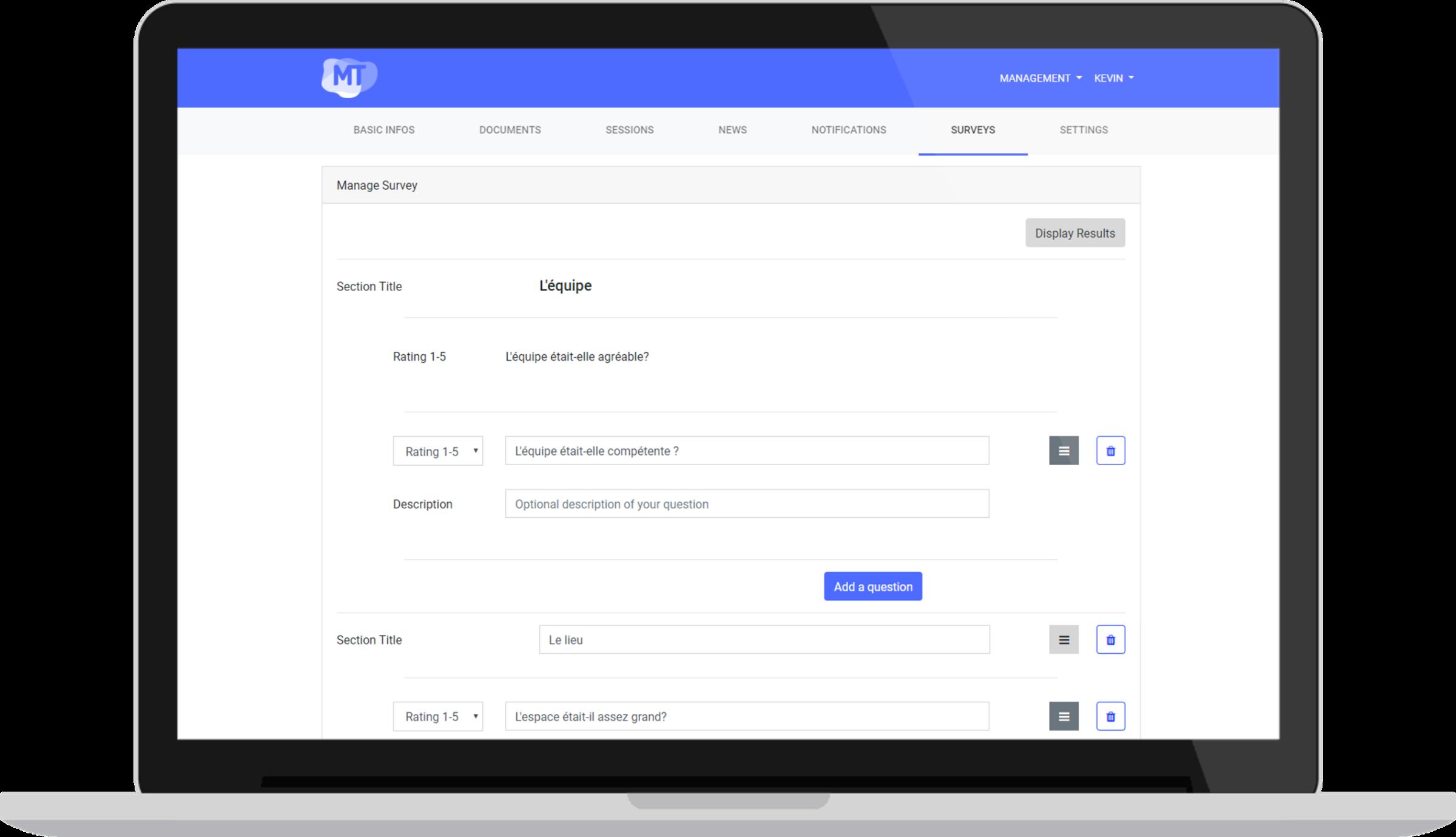Questionnaire - Un écosystème complet pour la gestion et diffusion de vos événements professionnels