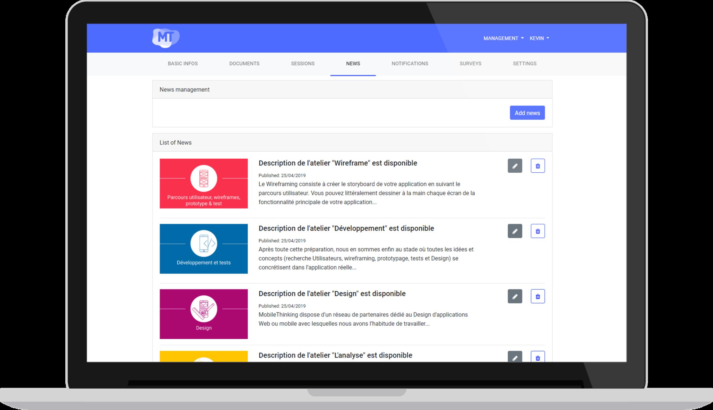 Actualités - Un écosystème complet pour la gestion et diffusion de vos événements professionnels